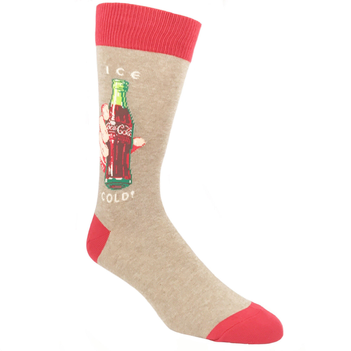 Ice Cold Coca-Cola Socks in Tan by SockSmith - The Sock Spot