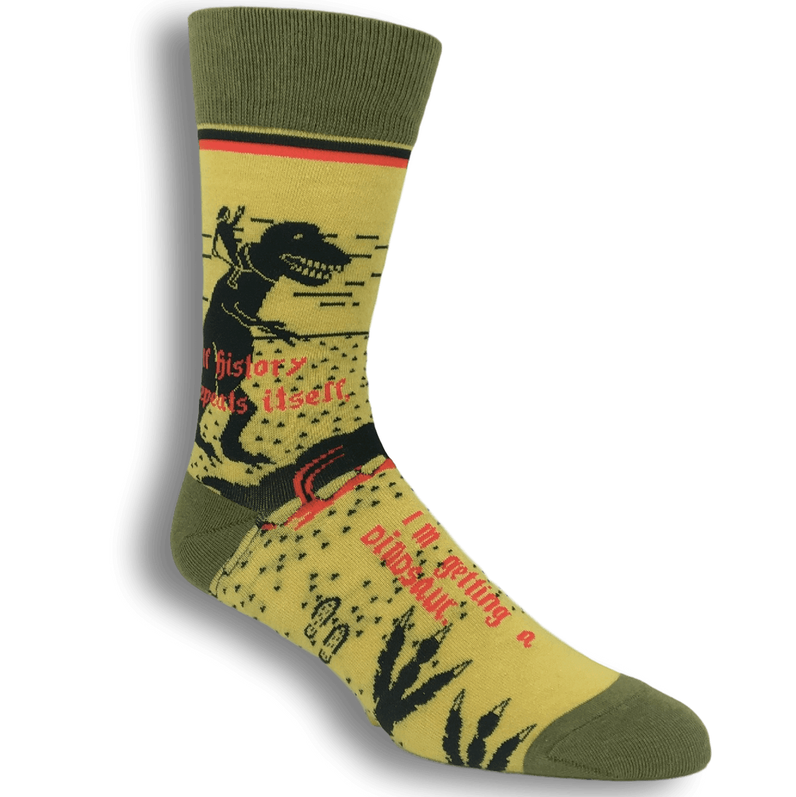 If History Repeats Itself Dinosaur Socks by Funatic - The Sock Spot