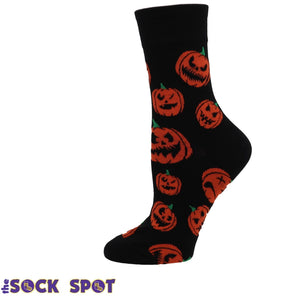 Jack O Lantern Women's Socks by Good Luck Sock - The Sock Spot