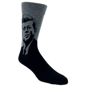 John F Kennedy Socks in Grey by SockSmith