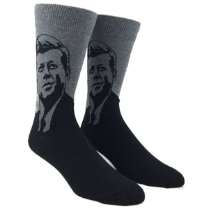 John F Kennedy Socks in Grey by SockSmith - The Sock Spot