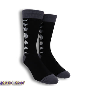 Just a Phase Men's Socks in Black by SockSmith - The Sock Spot