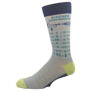 Kitchen Measurement Conversion Socks by Foot Traffic - The Sock Spot