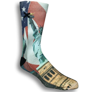 Lady Liberty Printed Socks by Odd Sox - The Sock Spot