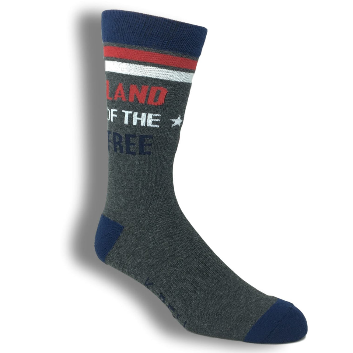 "Socks - ""Land Of The Free. Home Of The Brave"" Socks - Made In America"