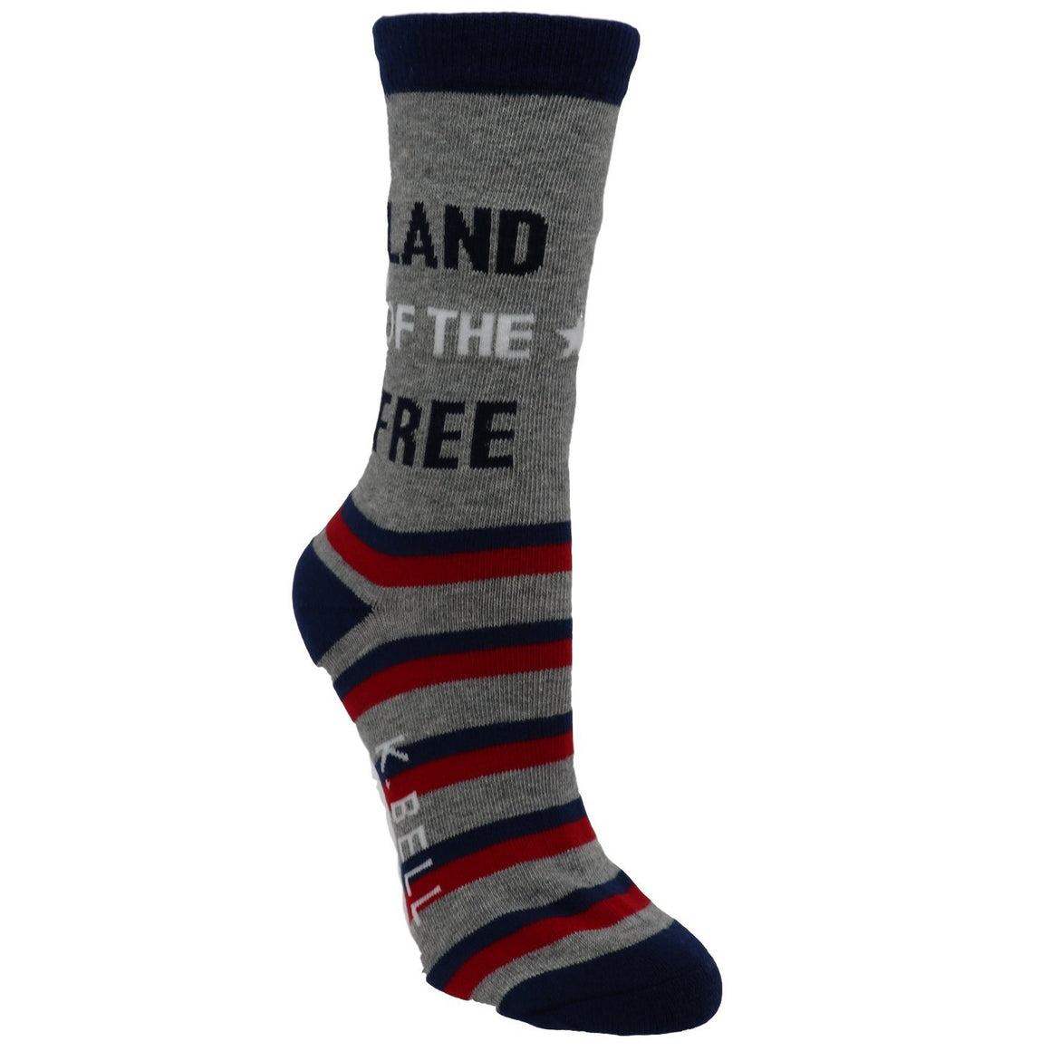 """Land of the Free. Home of the Brave"" Women's Socks - Made In America by K.Bell - The Sock Spot"