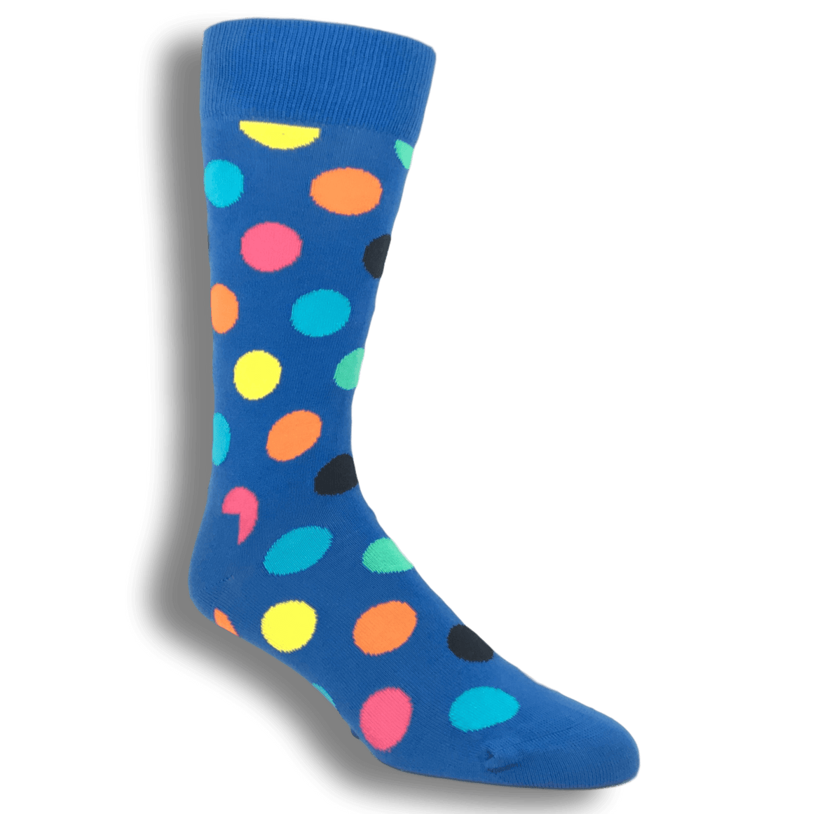 Socks - Light Blue With Multi Colored Big Dots Socks By Happy Socks