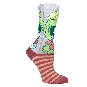 Looney Tunes Marvin the Martian Faded Neon Socks - The Sock Spot