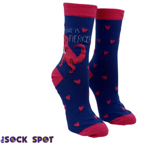 Love is Fierce Women's Socks by Sock it to Me - The Sock Spot