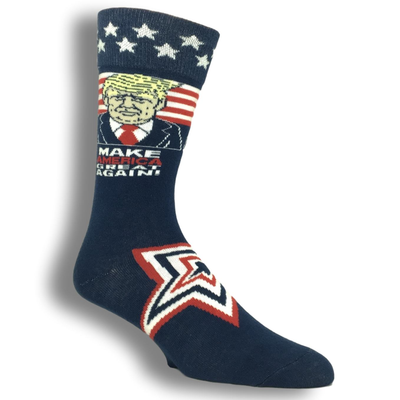 Donald Trump 2020 Socks Red White and Blue MAGA Free Shipping!