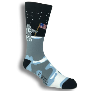 Man on the Moon Socks - Made In America by K.Bell - The Sock Spot