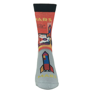 Mars or Bust Printed Socks by Good Luck Sock - The Sock Spot