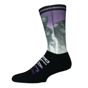 Marvel Black Panther Printed Vertical Superhero Socks - The Sock Spot