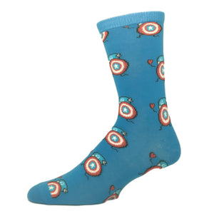 Marvel Captain America Cartoon Sketch Socks - The Sock Spot