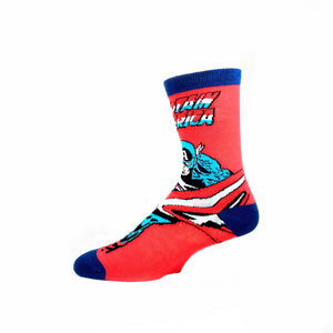 Marvel Captain America Comic Superhero Socks - The Sock Spot