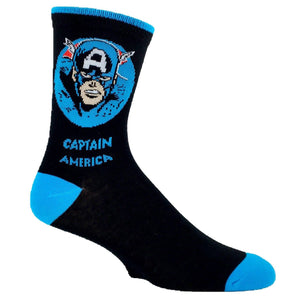 Marvel Captain America Feature Superhero Socks - The Sock Spot