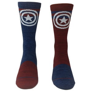 Socks - Marvel Captain America Flipped Colors Athletic Socks