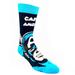 Marvel Captain America Headline Superhero Socks