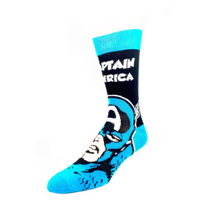 Marvel Captain America Headline Superhero Socks - The Sock Spot