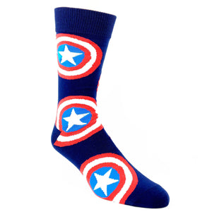 Marvel Captain America Large All Over Print Superhero Socks