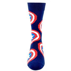 Socks - Marvel Captain America Large All Over Print Socks