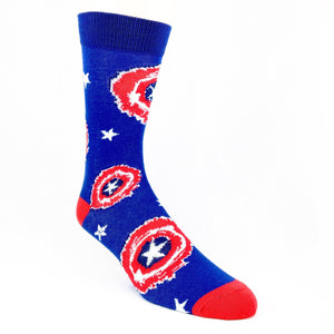 Marvel Captain America Painted Shield Superhero Socks