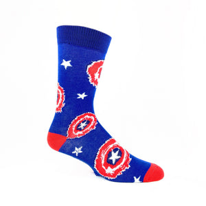 Marvel Captain America Painted Shield Superhero Socks - The Sock Spot