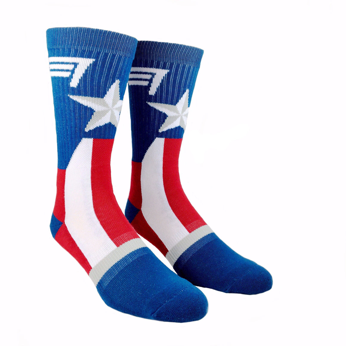 Socks - Marvel Captain America Suit Up Athletic Socks