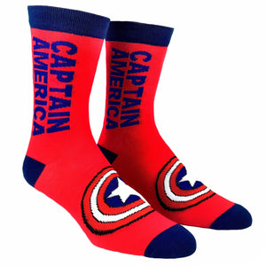 Marvel Captain America Vertical Superhero Socks