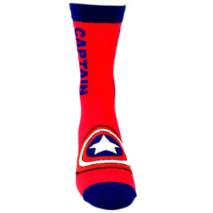 Marvel Captain America Vertical Superhero Socks - The Sock Spot