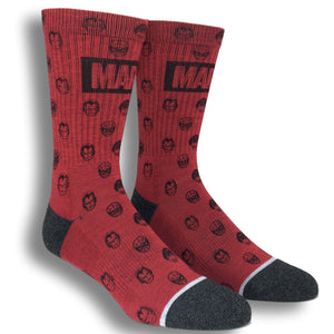 Marvel Comics Waterprint Athletic Superhero Socks - The Sock Spot