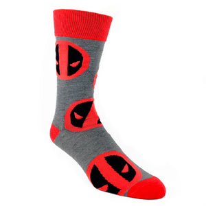 Marvel Deadpool Large All Over Print Superhero Socks - The Sock Spot
