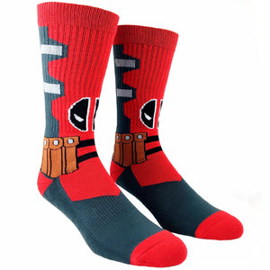 Socks - Marvel Deadpool Suit Up Athletic Socks