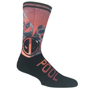 Marvel Deadpool Vertical Printed Socks - The Sock Spot