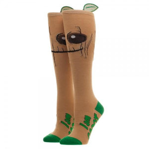 Marvel Guardians of the Galaxy Groot Knee High Superhero Socks - The Sock Spot