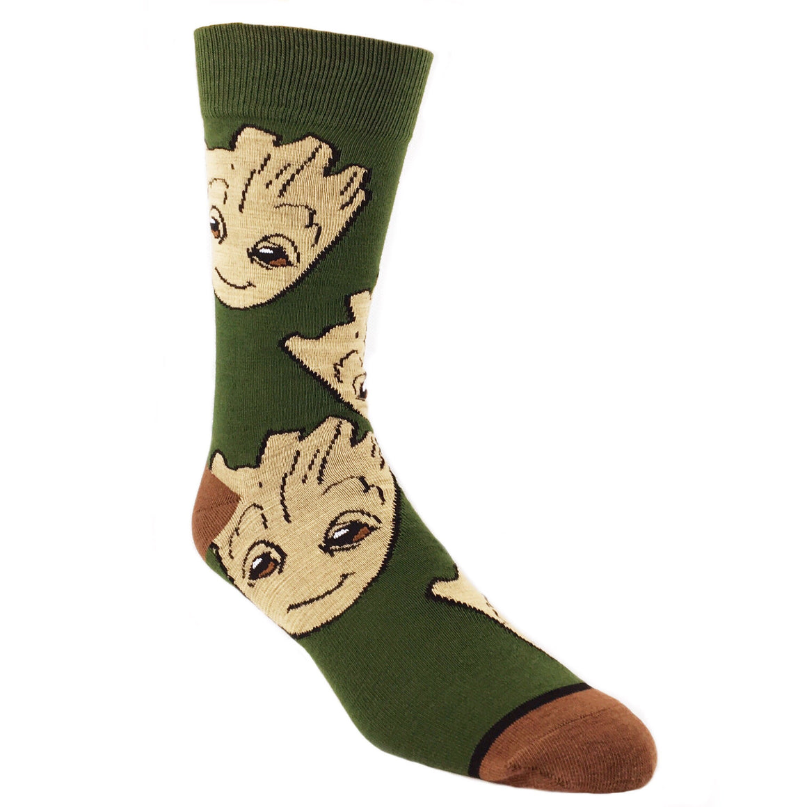 Marvel Guardians of the Galaxy Groot Large All Over Print Superhero Socks - The Sock Spot