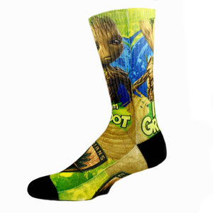 Socks - Marvel Guardians Of The Galaxy I Am Groot Printed Socks