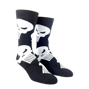 Marvel Punisher Large All Over Print Superhero Socks - The Sock Spot