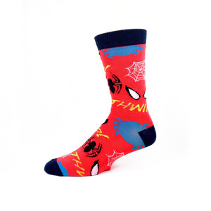 Marvel Spider-Man All Over Superhero Socks - The Sock Spot