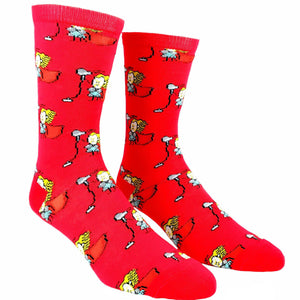Socks - Marvel Thor Cartoon Sketch Socks