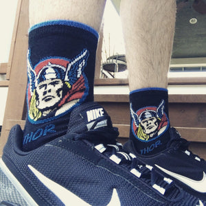 Marvel Thor Feature Superhero Socks - The Sock Spot