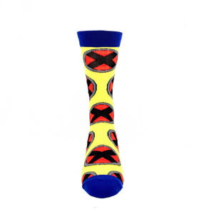 Marvel X-Men Logo All Over Superhero Socks - The Sock Spot