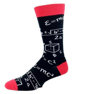 Socks - Math Chalkboard Socks - Black