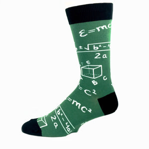 Math Chalkboard Socks in Green by SockSmith - The Sock Spot