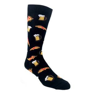Tasty Pizza and Beer Socks by K.Bell - The Sock Spot