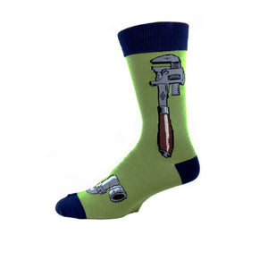Monkey Wrench Socks in Moss Green by SockSmith