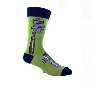 Monkey Wrench Socks in Moss Green by SockSmith - The Sock Spot