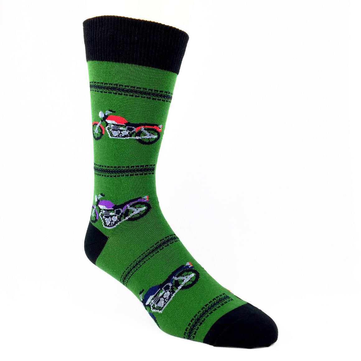 Motorcycles Socks - Green - The Sock Spot