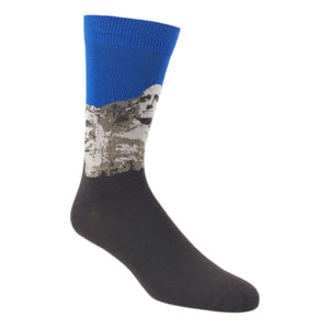Socks - Mount Rushmore Bamboo Socks - Blue