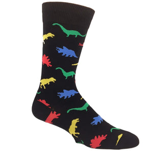Socks - Multi-Colored Dinosaur Socks